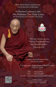 HHDL Vancouver poster 2014